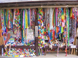 Paper Cranes at the Peace Park in Hiroshima. Photo by Stephanie Yoder.