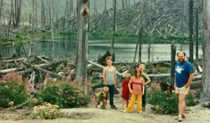 Dad, me and my siblings at Mount St. Helens, 1990.