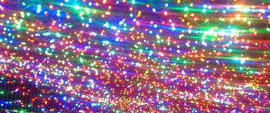 Colorful Lights above me and beside me -- I walked through a tunnel of rainbow lights!