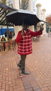 Umbrella Man all dressed up for the winter!
