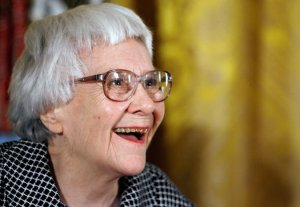 Picture of Harper Lee in 2007 when she received the Presidential Medal of Freedom. Credit Chip Somodevilla/Getty Images