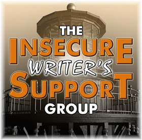 "The Insecure Writer's Support Group badge, which includes the title ""The Insecure Writer's Support Group"" over the background image of the top of a lighthouse."